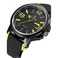 preiswerte -V6 Herrn Armbanduhr Sportuhr Militäruhr Kleideruhr Modeuhr Quartz Japanischer Quartz Wasserdicht Silikon Band Retro Freizeit Cool Schwarz
