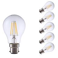 5W B22 LED Filament Bulbs A60(A19) 4 COB 400 lm Warm White 2700 K Decorative V