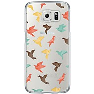 cheap Cases / Covers for Samsung-Case For Samsung Galaxy S7 edge / S7 Ultra-thin / Translucent Back Cover Tile Soft TPU for S7 edge / S7 / S6 edge plus