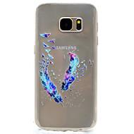 Για Διαφανής / Με σχέδια tok Πίσω Κάλυμμα tok Φτερό Μαλακή TPU Samsung S7 edge / S7 / S5 Mini / S5