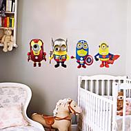 카툰 / 패션 / 판타지 벽 스티커 플레인 월스티커 데코레이티브 월 스티커,PVC 자료 이동가능 홈 장식 벽 데칼