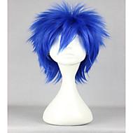 жен. Парики из искусственных волос Без шапочки-основы Короткий Прямые Синий Парики для косплей Парик для Хэллоуина Карнавальный парик