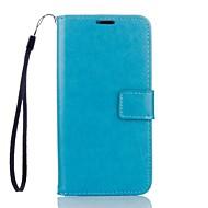 Для Кейс для Motorola Бумажник для карт / Кошелек / со стендом Кейс для Чехол Кейс для Один цвет Твердый Искусственная кожа MotorolaMOTO