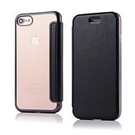 お買い得  -ケース 用途 Apple iPhone 8 iPhone 8 Plus iPhone 5ケース iPhone 6 iPhone 7 フリップ フルボディーケース 純色 ハード PUレザー のために iPhone 8 Plus iPhone 8 iPhone 7 Plus