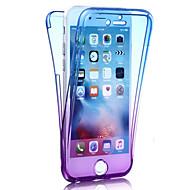 お買い得  -ケース 用途 Apple iPhone 8 iPhone 8 Plus iPhone 6 iPhone 7 Plus iPhone 7 耐衝撃 フルボディーケース カラーグラデーション ソフト TPU のために iPhone 8 Plus iPhone 8 iPhone 7