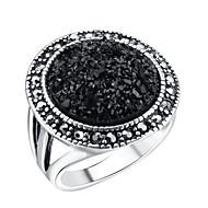 billige -Dame Kvadratisk Zirconium Ring tommelfingerring Legering Bohemisk Moderinge Smykker Sort Til Bryllup Forlovelse Afslappet 7 / 8 / 9 / 10