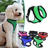 cheap Pet Supplies-Dog Harness Adjustable / Retractable Breathable Solid Nylon Mesh Purple Rose Red Green Blue