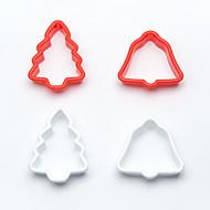 abordables Under $0.99-puede decimoquinto bricolaje campana árbol de la galleta molde de la torta de la galleta cortadores de émbolo decoración de Navidad