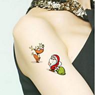 abordables Tatuajes Temporales-Non Toxic / Modelo / Parte Lumbar manos / brazo / muñeca Los tatuajes temporales 1 pcs Series de Tótem / Series de Animal / Serie de dibujos animados Artes de cuerpo