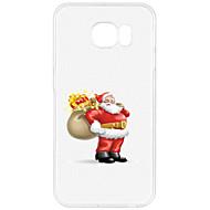 olcso Samsung tokok-Case Kompatibilitás Samsung Galaxy S7 edge S7 Minta Fekete tok Karácsony Puha TPU mert S7 edge S7 S6 edge plus S6 edge S6 S5 Mini S5 S4