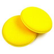 economico Prodotti per la pulizia e il lavaggio-ziqiao 2pcs cera antigraffio cerchio auto pulizia / smalto giallo spugne schiuma strumento di pulizia auto pad cura dell'auto