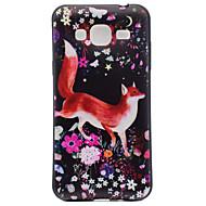Недорогие Чехлы и кейсы для Galaxy J3(2016)-Для samsung galaxy j3 j3 (2016) fox pattern soft tpu задняя крышка телефон чехол