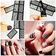12 Nail Art matrica Diecut manikűr stencil smink Kozmetika Nail Art Design