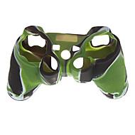 caja de la piel de silicona para ps2 camuflaje mando de PS3