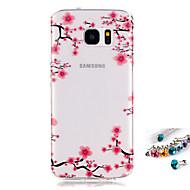 Kılıf Na Samsung Galaxy S7 edge S7 IMD Przezroczyste Wzór Etui na tył Kwiaty Miękkie TPU na S7 edge S7 S6 edge S6 S5 Mini S5