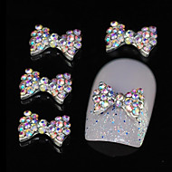 10PCS 다채로운 모조 다이아몬드 나비 넥타이 DIY 합금 액세서리 네일 아트 장식