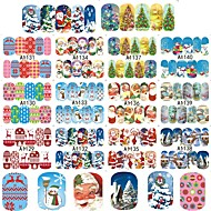 4sets, 48designs Nail Art matrica Víz Transfer Matricák smink Kozmetika Nail Art Design
