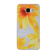 Недорогие Чехлы и кейсы для Galaxy А-Кейс для Назначение SSamsung Galaxy A5(2016) A3(2016) С узором Кейс на заднюю панель Цветы Мягкий ТПУ для A8(2016) A5(2016) A3(2016) A8