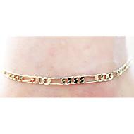 Недорогие $0.99 Модное ювелирное украшение-Ножной браслет - европейский, Простой стиль, Мода Серебряный / Золотой Назначение Свадьба / Для вечеринок / Повседневные / Жен.