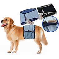 저렴한 -강아지 바지 혼합면 패드 강아지 의류 통풍 잘되는 캐쥬얼/데일리 솔리드 블랙 블루 코스츔 애완 동물