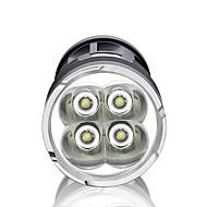 LED손전등 LED 3000 lm 3 모드 LED 방수 슈퍼 라이트 높은 전력 밝기조절가능 용 캠핑/등산/동굴탐험 일상용 사이클링 사냥 낚시 여행 멀티기능 야외 배터리 불포함