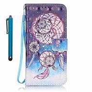 Недорогие Чехлы и кейсы для Galaxy A3(2016)-Кейс для Назначение SSamsung Galaxy A5(2016) A3(2016) Бумажник для карт Кошелек со стендом Чехол Ловец снов Твердый Кожа PU для A5(2016)