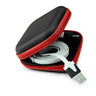 abordables Cadena para Samsung-La caja del filtro de almacenamiento para auriculares de cable del auricular del auricular caso de contenedores de almacenamiento caja de