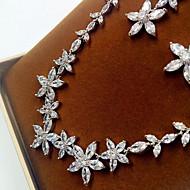 abordables -Mujer Zirconia Cúbica Conjunto de joyas Zirconio, Zirconia Cúbica, Diamante Sintético Incluir Plata Para Boda Fiesta / Pendientes / Collare