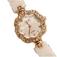 זול -בגדי ריקוד נשים שעון יד קווארץ לבן מגניב אנלוגי יום יומי - לבן