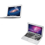 "Ultra Thin Transparent TPU Soft Keyboard Protector Cover + Protective Clear Screen Guard for 11.6""/13.3"" MacBook Air"