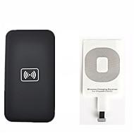 abordables Gadgets para Samsung-kit de carga inalámbrica Qi para el iphone 5 6 5c 5s cargador inalámbrico de carga del kit del cojín y tarjeta receptora