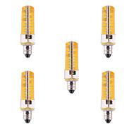 お買い得  LED コーン型電球-YWXLIGHT® 5個 500-700lm E11 LEDコーン型電球 T 80 LEDビーズ SMD 5730 調光可能 装飾用 温白色 クールホワイト 110-220V