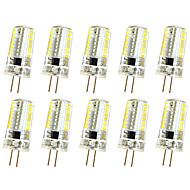 10 kpl 3w g4 sisustusvalo t 64led smd 3014 250-300lm lm lämmin valkoinen / viileä valkoinen himmennettävä ac110v / 220 v