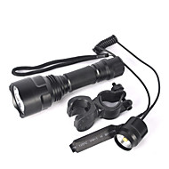 LED Flashlights / Torch Bike Lights LED 5000 lm 1 Mode Cree XM-L T6 Zoomable Nonslip grip Small Size Super Light Camping/Hiking/Caving