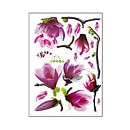 お買い得  インテリア用品-自然のロマンチックなmangnolia PVCウォールステッカーウォールアートステッカー