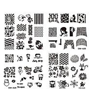 Χαμηλού Κόστους -10pcs nail plate - 6.2cmX6.2cm each piece - Λουλούδι - Άλλα Διακοσμητικά - για Δάχτυλο / Δάκτυλο Ποδιού - από Μέταλλο