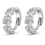 billige -Dame Store øreringe luksus smykker Mode Sølv Simuleret diamant Smykker Til Fest
