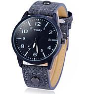 billige -Herre Armbåndsur Quartz Læder Bånd Sort
