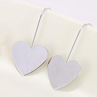billige -Dame Dråbeøreringe Øreringe Hjerte Kærlighed Personaliseret Mode Smykker Guld / Sølv Til Daglig Valentine