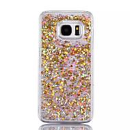 Недорогие Чехлы и кейсы для Galaxy S-Кейс для Назначение SSamsung Galaxy S7 edge S7 Движущаяся жидкость Кейс на заднюю панель Сияние и блеск Твердый ПК для S7 edge S7 S6 edge