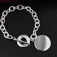 billige -Dame Kæde & Lænkearmbånd Venskab Sølv Smykker Smykker For Daglig Afslappet