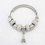billige -Dame Charm-armbånd Armbånd Tårn Damer Europæisk Mode Armbånd Smykker Sølv Til Afslappet