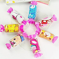 halpa Kylpyhuonetarvikkeet-syntymäpäivä lahja karkkia muoto kuitu luova pyyhe (random väri)