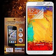 Χαμηλού Κόστους Galaxy Note Προστατευτικά Οθόνης-Προστατευτικό οθόνης για Samsung Galaxy Note 4 PET Προστατευτικό μπροστινής οθόνης Υψηλή Ανάλυση (HD)