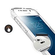 Недорогие Чехлы и кейсы для Galaxy S-Кейс для Назначение SSamsung Galaxy Кейс для  Samsung Galaxy Прозрачный Кейс на заднюю панель Сплошной цвет ТПУ для S6