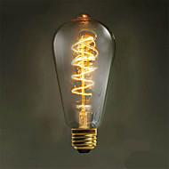 38W E26/E27 LED Λάμπες Πυράκτωσης ST64 1 leds COB Διακοσμητικό Θερμό Λευκό 3000-3500lm 3000-3500KK AC 220-240V