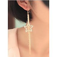 זול -ללא אבן עגילים צמודים תכשיטים נשים Party יומי קזו'אל סגסוגת 1 זוג מוזהב