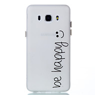 For Case Cover Glow in the Dark Back Cover Case Word / Phrase Soft TPU for Samsung Galaxy J5 (2016) J3 J3 (2016)