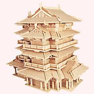 puslespil Træpuslespil Byggesten DIY legetøj Berømt bygning Kinesisk arkitektur Hus 1 Træ Krystal Model- og byggelegetøj