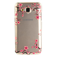 For Samsung Galaxy J5 J5(2016) J3 J3(2016) G530 Case Cover Plum Pattern IMD Process Painted TPU Material Phone Case